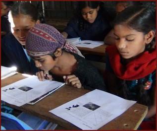 StudyDo design in girls' school Chikodra, Gujarat